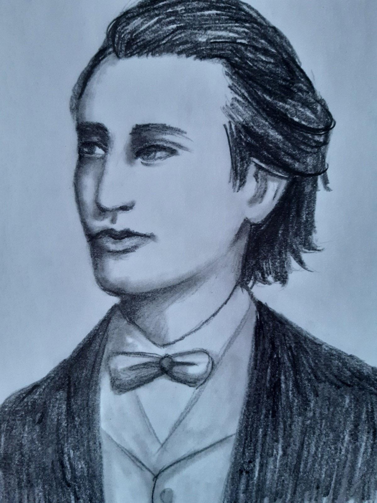 PANAIT VIRGINIA – cl. a XII-a B Portret Mihai Eminescu Prof.: Aruștei Cristina Ramona